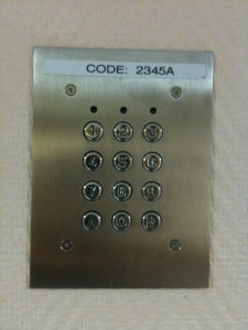 keypad for keyless security door system