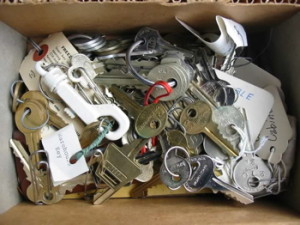 Property Manager's box of random keys